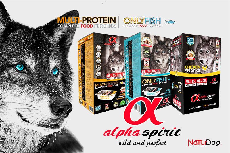 Alpha Spirit multi protein only fish chicken snacks NaturDog