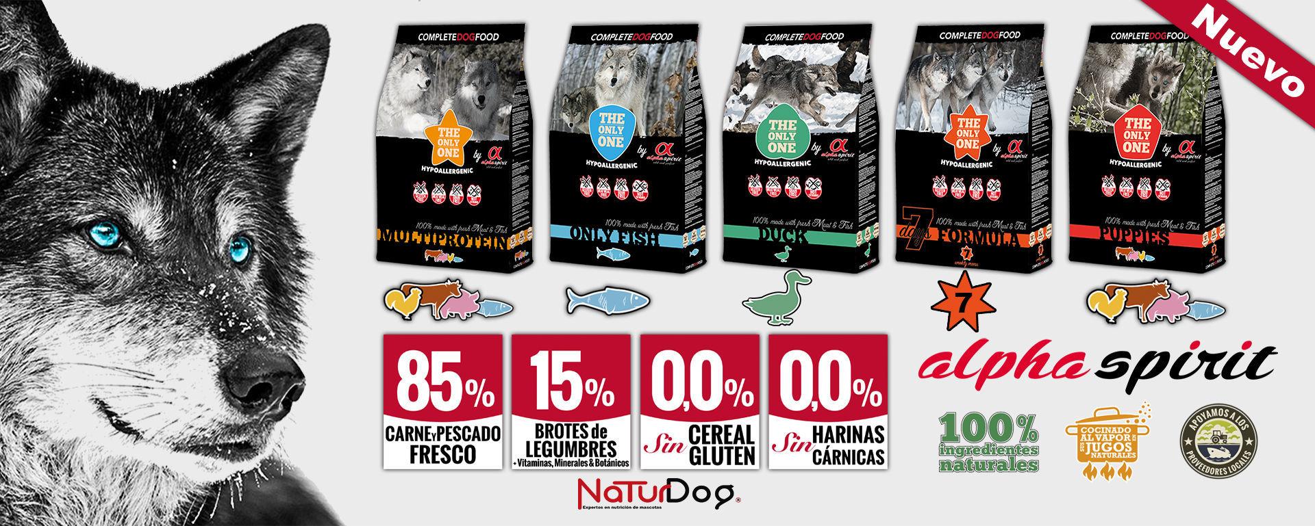 Alpha Spirit publicidad NaturDog