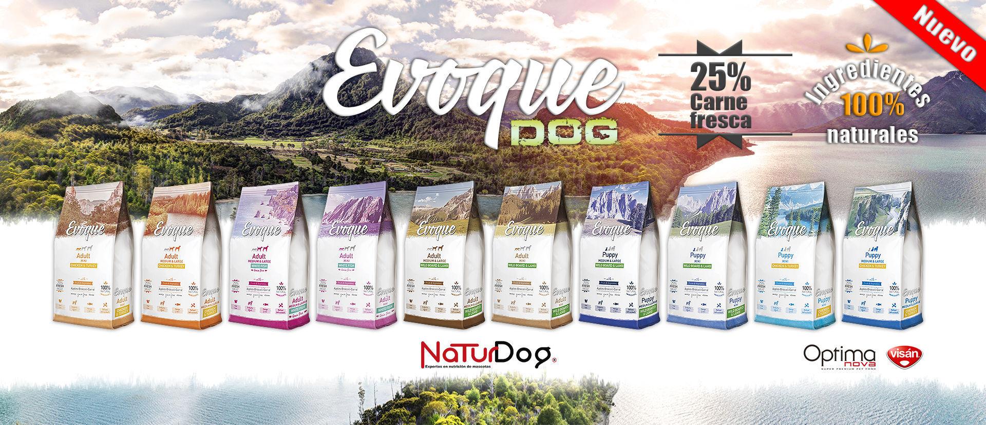 Evoque dog nueva gama alimentacion perros Visan NaturDog