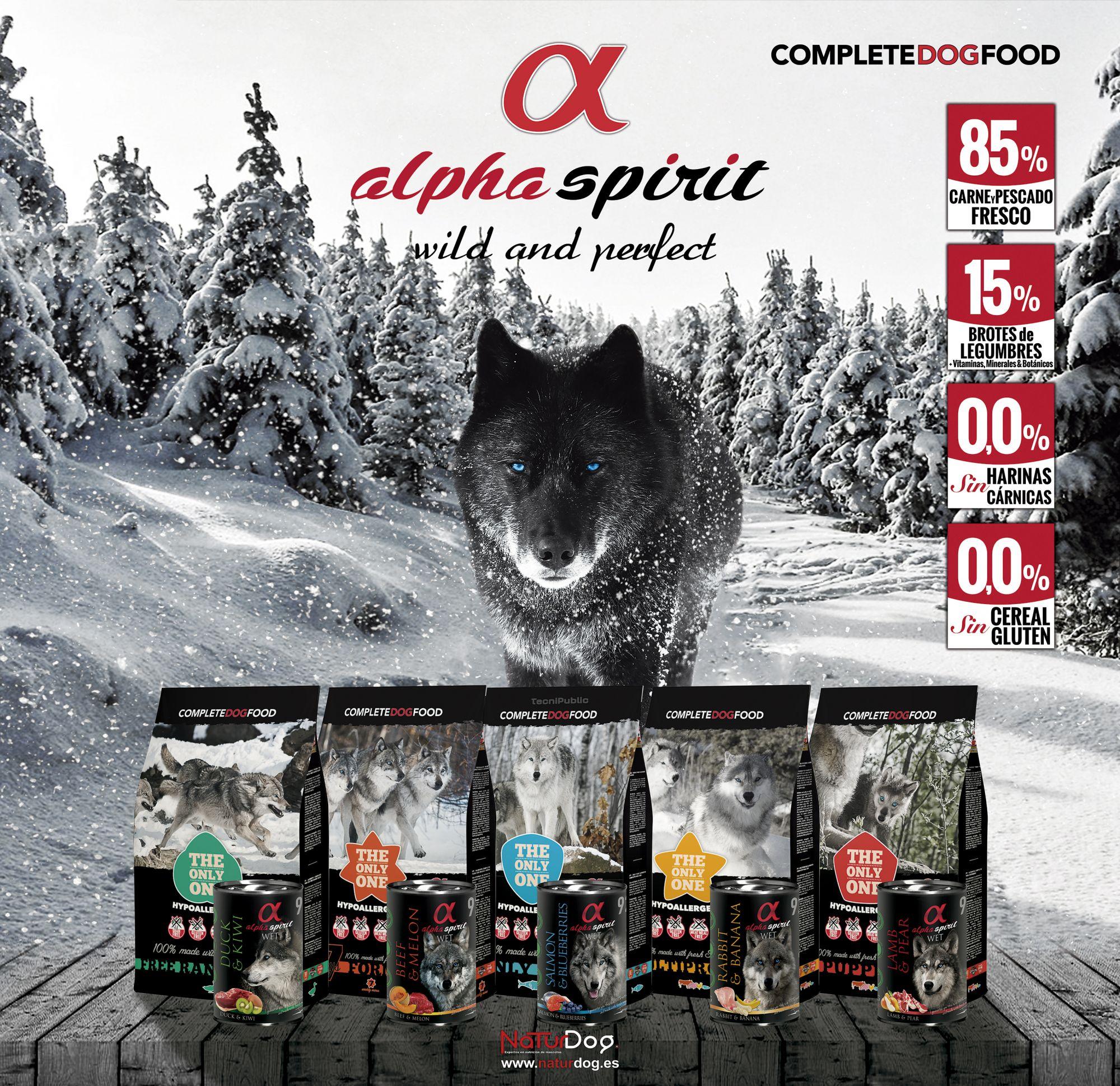 Cartel Alpha Spirit piensos para perros
