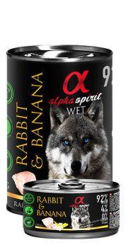 Alpha Spirit lata con un 92% de conejo y 4% plátano