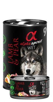 Alpha Spirit lata con un 94% de cordero y 4% de pera