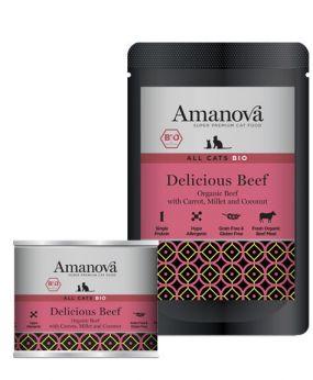 AmaNova bio all cats delicious beef