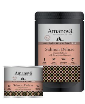 AmaNova all cats skin coat bio salmon deluxe