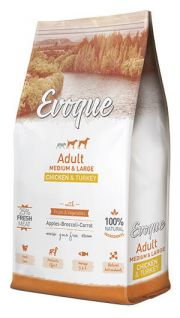 Evoque adult medium and large chicken and turkey NaturDog