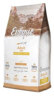 Evoque adult mini chicken and turkey NaturDog