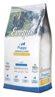 Evoque puppy medium and large chicken and turkey NaturDog