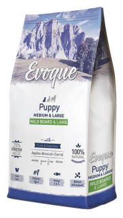 Evoque puppy medium and large wild board and lamb NaturDog