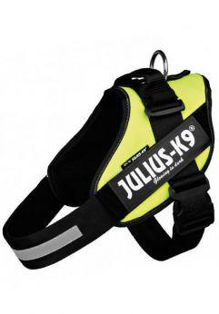 Julius K9 arnés idc color amarillo, innovacion comodidad y seguridad del perro
