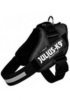 Julius K9 arnés idc de color negro. Aspecto Renovado, innovador, deportivo, diseño dinámico.