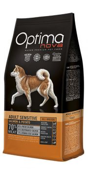 Optima Nova adult sensitive salmon potato NaturDog