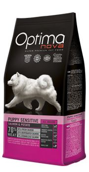 Optima Nova puppy sensitive salmon potato NaturDog