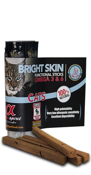Alpha Spirit cat bright skin sticks