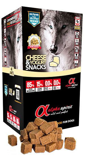 Alpha Spirit snacks cheese and yogurt