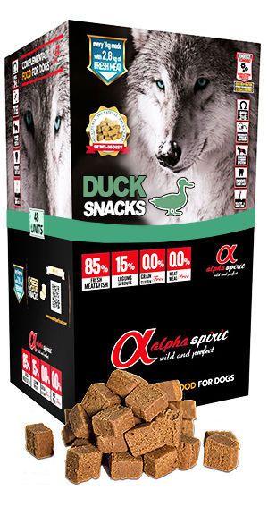 Alpha Spirit snacks duck