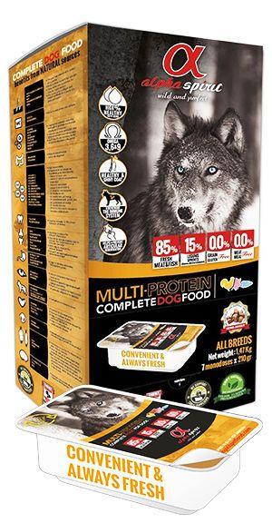 Alpha Spirit snacks multi-protein complete food dogs