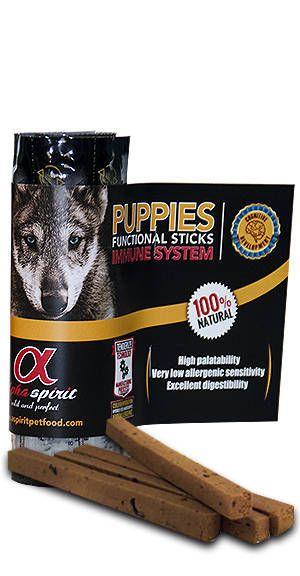 Alpha Spirit sticks puppies