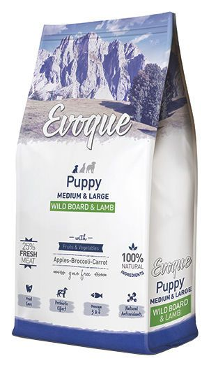 Evoque puppy medium and large wild board and lamb