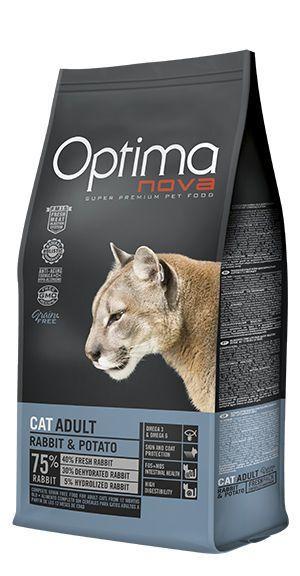 Optima Nova cat adult rabbit and potato
