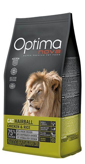 Optima Nova cat hairball chicken and rice