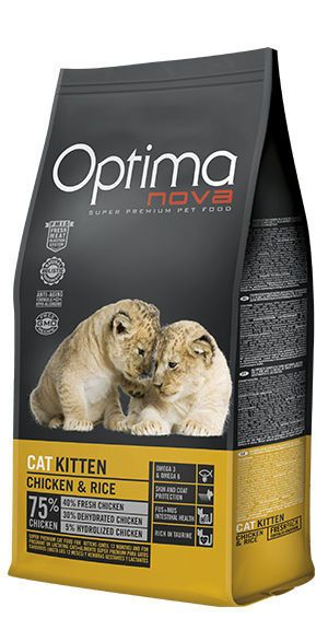 Optima Nova cat kitten chicken and rice
